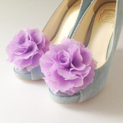 1 Pair(Set of 2)-LAVENDER-Chiffon f..