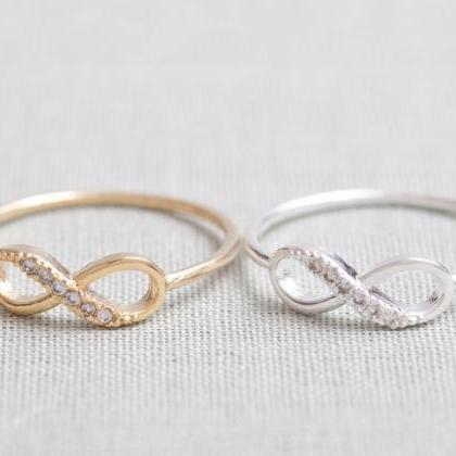 US 5 Size-Delicate Infinity Ring In..