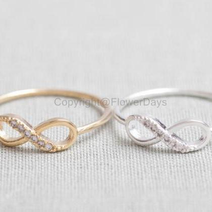 US 10 Size-Delicate Infinity Ring i..