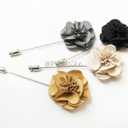 Blossom Suede men's Flower Boutonni..