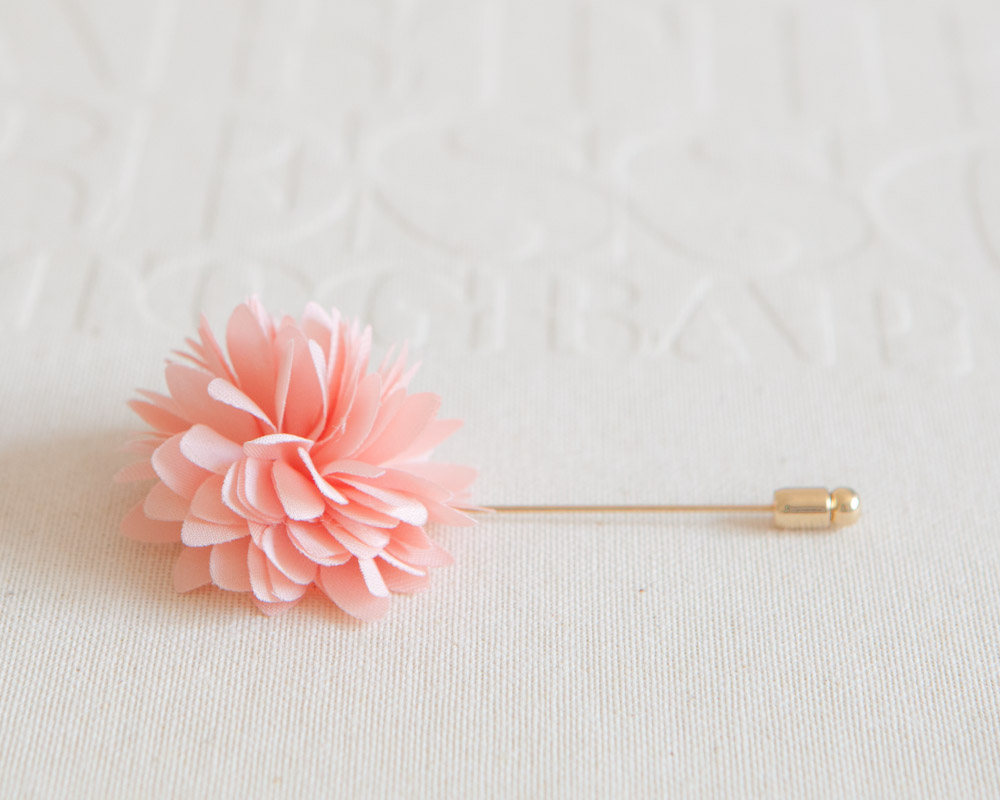 Kayla peach pink mens flower boutonniere buttonhole for wedding kayla peach pink mens flower boutonniere buttonhole for weddinglapel pin tie mightylinksfo