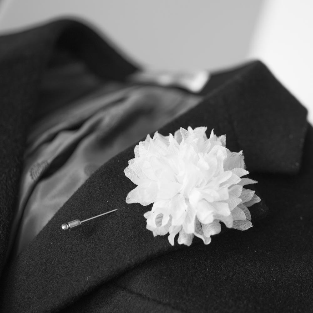 Joshua chiffon mens flower boutonniere buttonhole for wedding joshua chiffon mens flower boutonniere buttonhole for weddinglapel pintie pin on luulla mightylinksfo