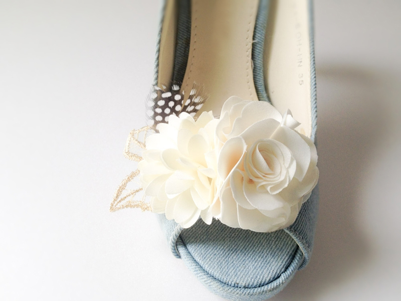 Bouquet Flower Shoe Clips,Set Of 2