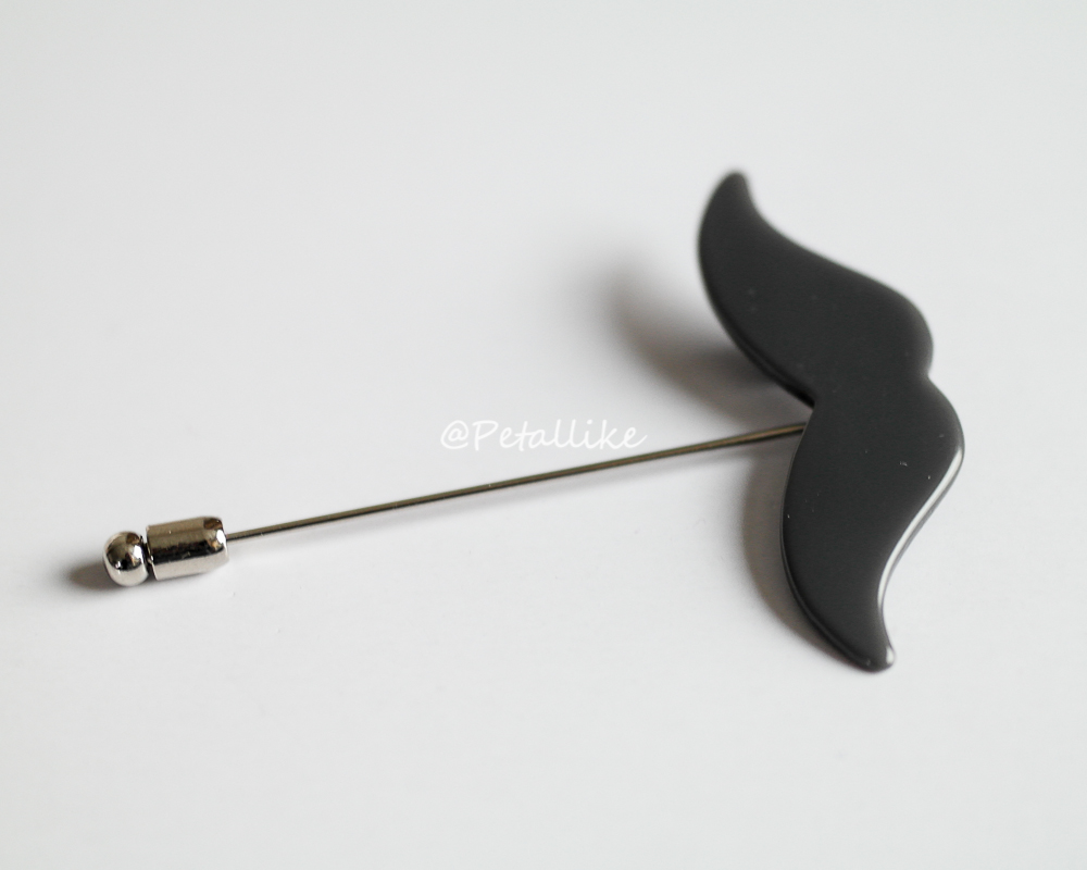 Acrylic mustaches Mens Boutonniere Lapel Pin