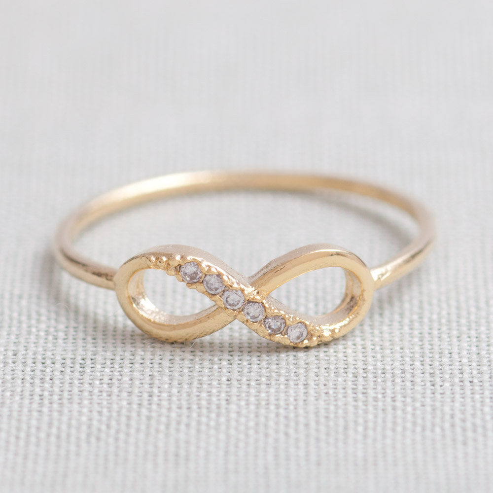 US 10 Size-Delicate Infinity Ring in Gold only