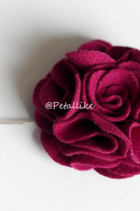 Wool fabric Flower Boutonniere/Buttonhole For Wedding,Lapel Pin,Hat Pin,Tie Pin
