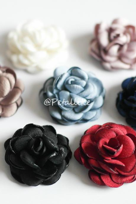 30mm Burned Rose flower Mens Boutonniere/Buttonhole For Wedding,Lapel Pin,Hat Pin,Tie Pin