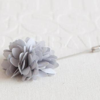 KAYLA-grey Men's flower Boutonniere / Buttonhole for wedding,Lapel pin,tie pin