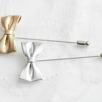 Mini Shinny Bow Men's Flower Boutonniere / Buttonhole For Wedding,Lapel Pin,Tie Pin